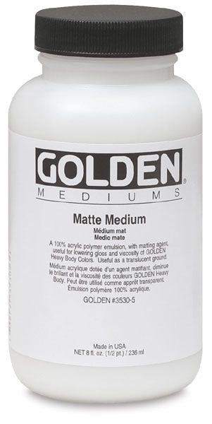 Golden Paint Matte Medium