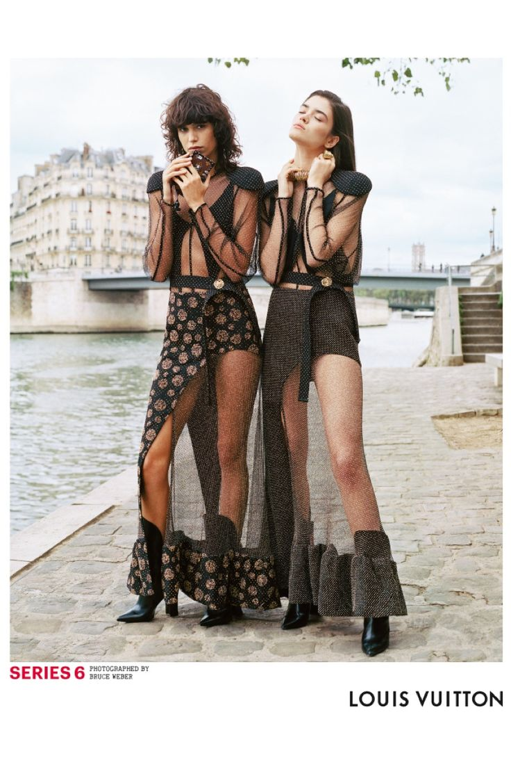 Rianne van Rompaey, Mica Arganaraz by Bruce Weber for Louis Vuitton Srping 2017
