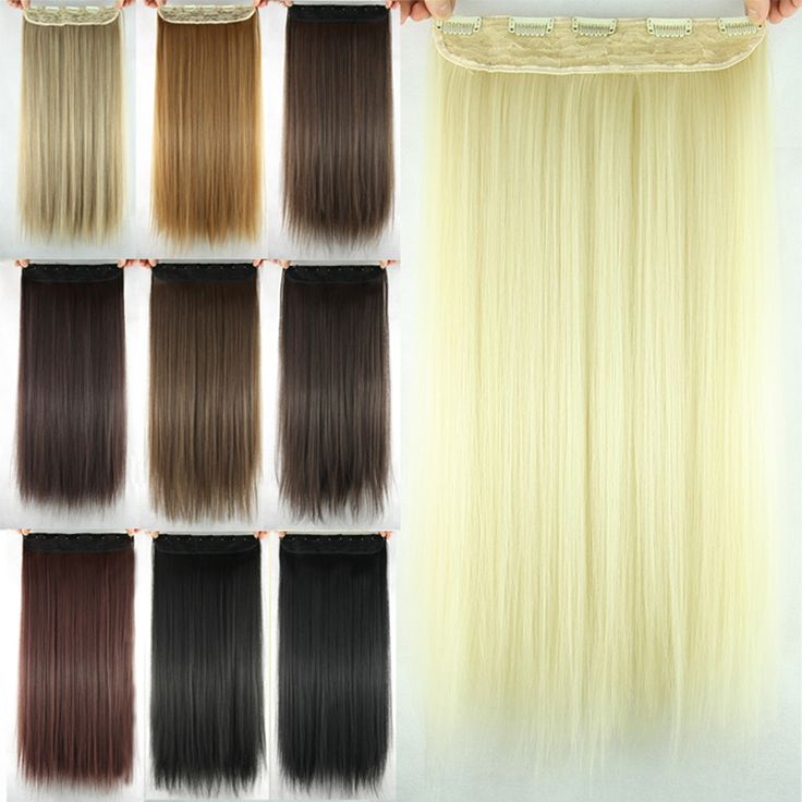 1PCS 5Clips Straight Hair Long Hairpiece Clip In Hair Tress Extension 60cm Synthetic Hair Extension Hairpieces Styling Afircan