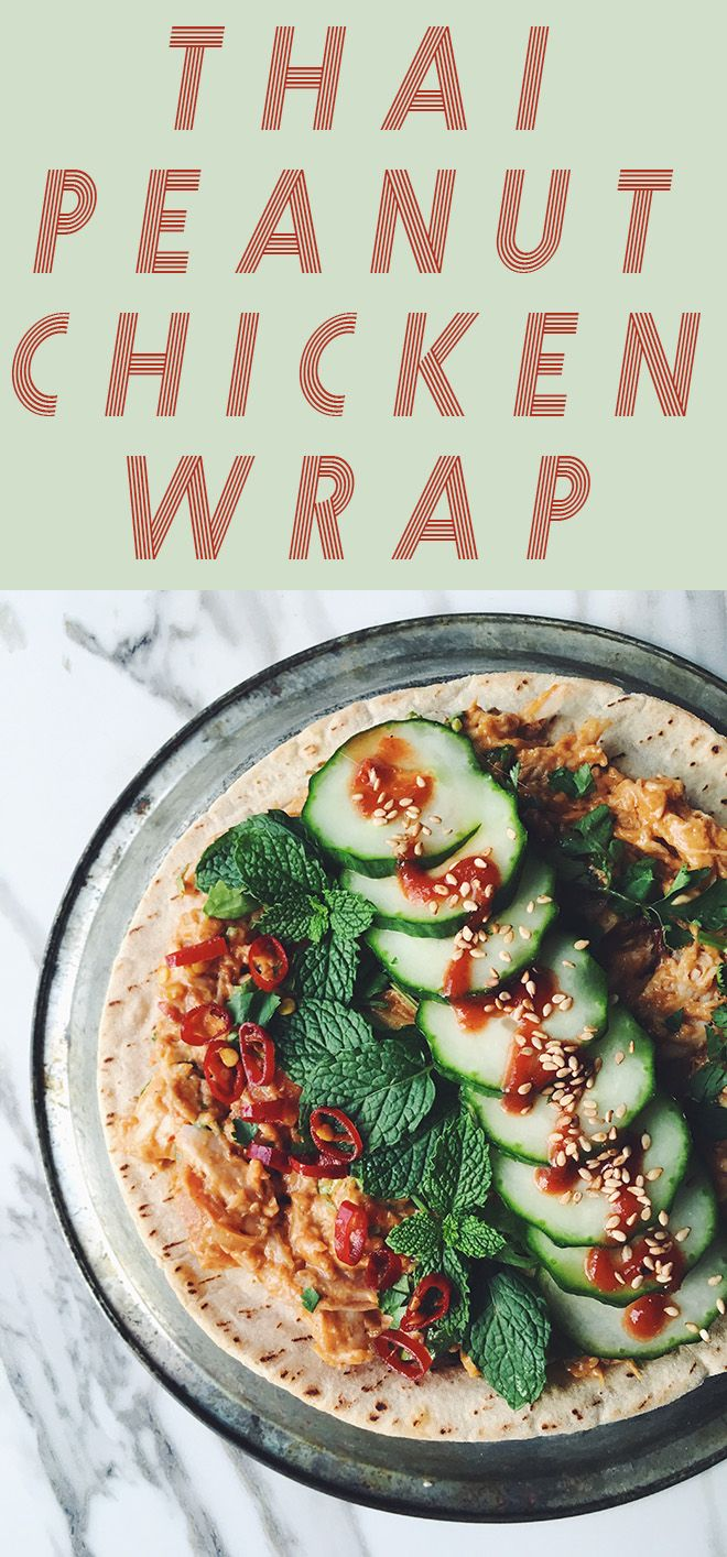 thai peanut chicken wrap