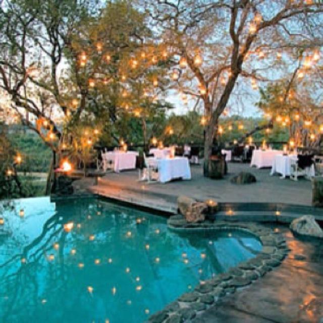 Backyard Twinkle Lights: Garden Wedding