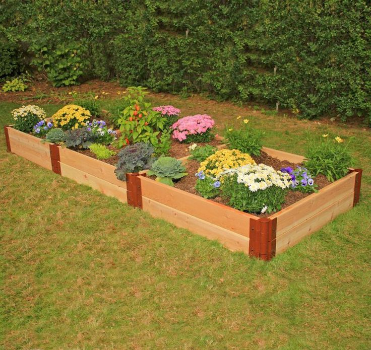 Frame It All Two Inch Series 4ft. x 12ft. x 12in. Cedar Raised Garden Bed Kit