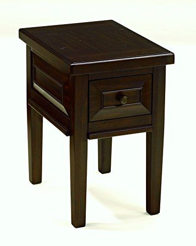 Ashley Furniture Signature Design Hindell Park Chair Side End Table Rustic Brown