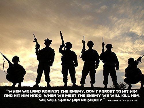 Army Poster George Patton Quotes Motivational Poster Army 18x24