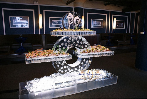 Cycle Seafood Table Ice Sculpture  _Weddings _Corporate Events _Food Display _Shrimp _Seafood