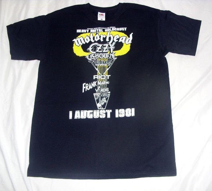 Motorhead T-Shirt Portvale 1981 (Heavy Metal Holocaust) Sizes S,M,L,XL,XXL,XXXL | eBay