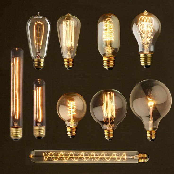 Details about Retro Vintage Industrial Style E27 40W 110V 220V Glass Edison  Light Bulb