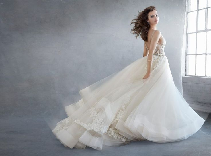 Designer Lazaro Style 3607 Available At Bliss Bridal In Wisconsin