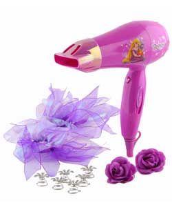 Disney Rapunzel 1400W Hair Dryer Gift Set.