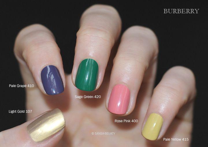 Burberry - Spring/Summer 2014 Runway Nails
