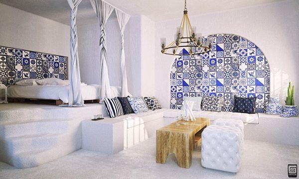 www.m1tos.com santorini deluxe villas 3d architetural