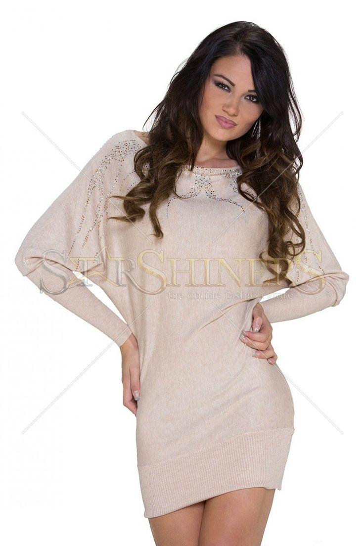 Sensual Jewel Cream Sweater