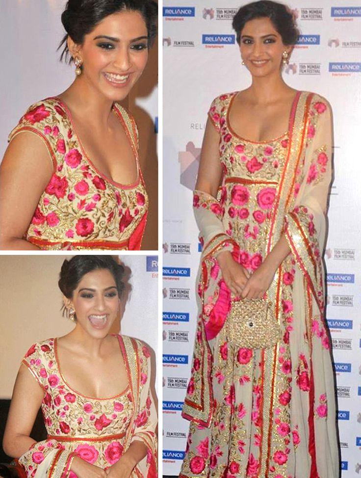 Beautiful Sonam Kapoor-Bollywood Replica Designer Salwar Suit
