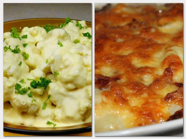 6 könnyen elkészíthető karfiolos recept, sonkával, gombával és tejfölösen!
