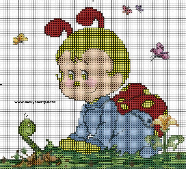 schema baby berry punto croce