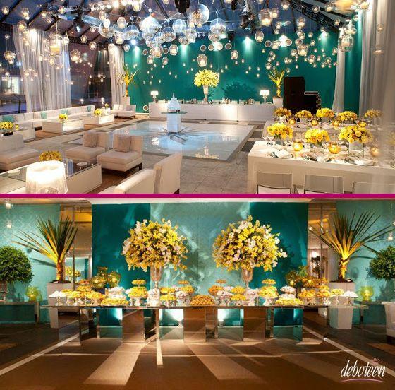 Festa Azul Tiffany  15 anos, Casamento and Google