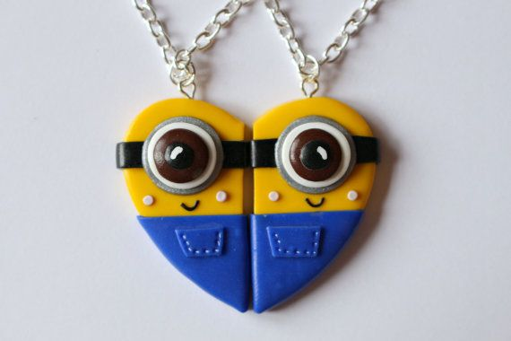 Despicable Me Minions Inspired Friendship by CharmingClayCreation, £10.00
