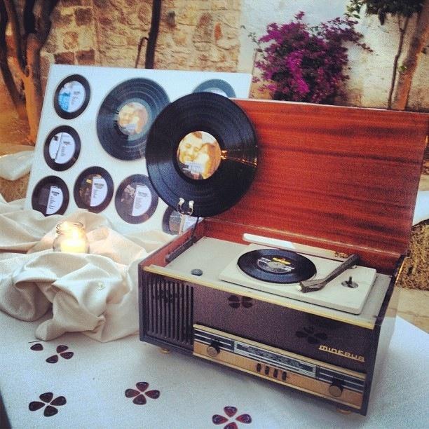 Old vinyls #tableau and guitar picks #vintage #music
