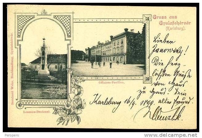 Alba Iulia - 1899 - postcard