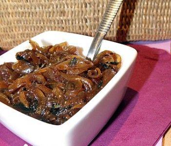 Confit d'oignons rapide miel et épices