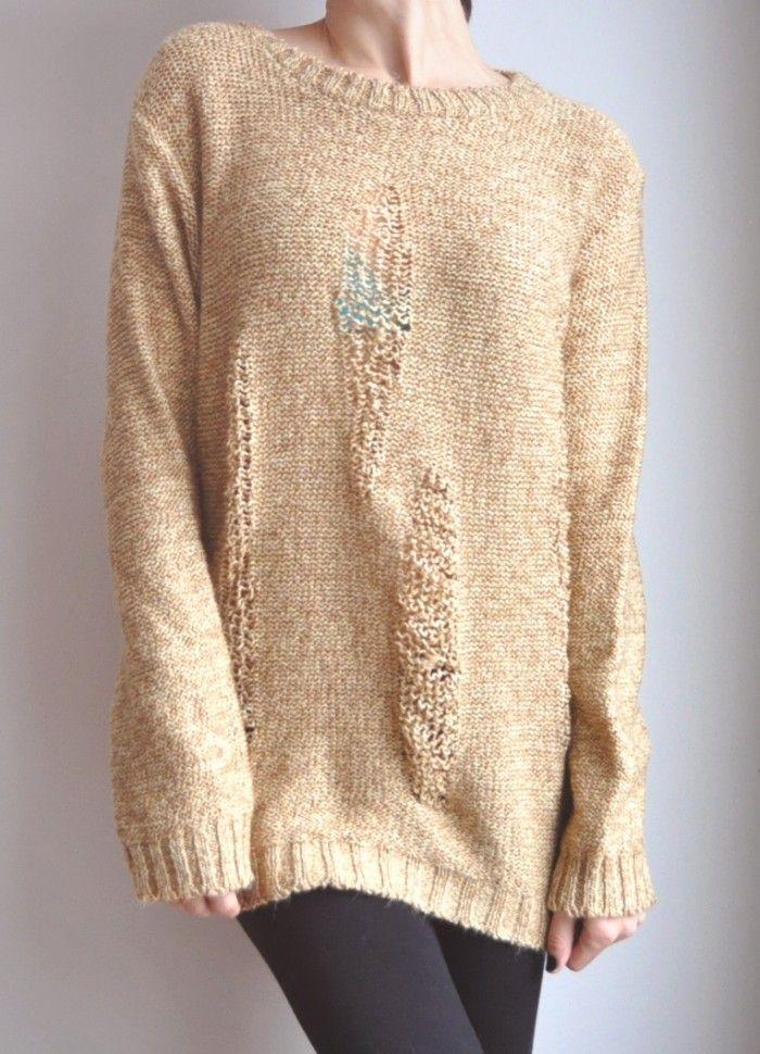 Knitting Cardigan Tutorial : Diy ripped sweater pinterest logos posts and