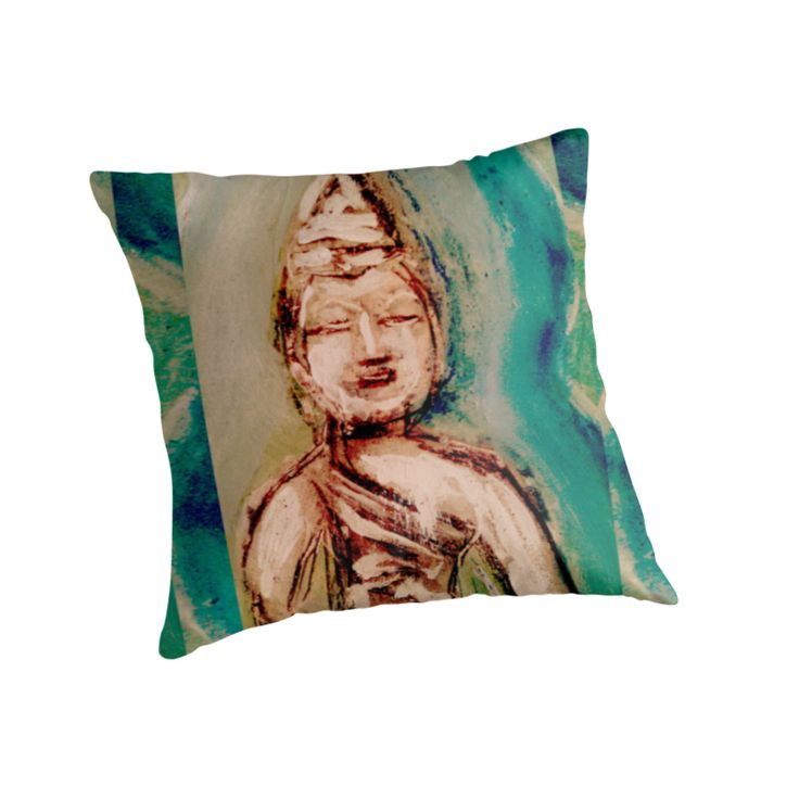 Buddha Throw Pillow Cover