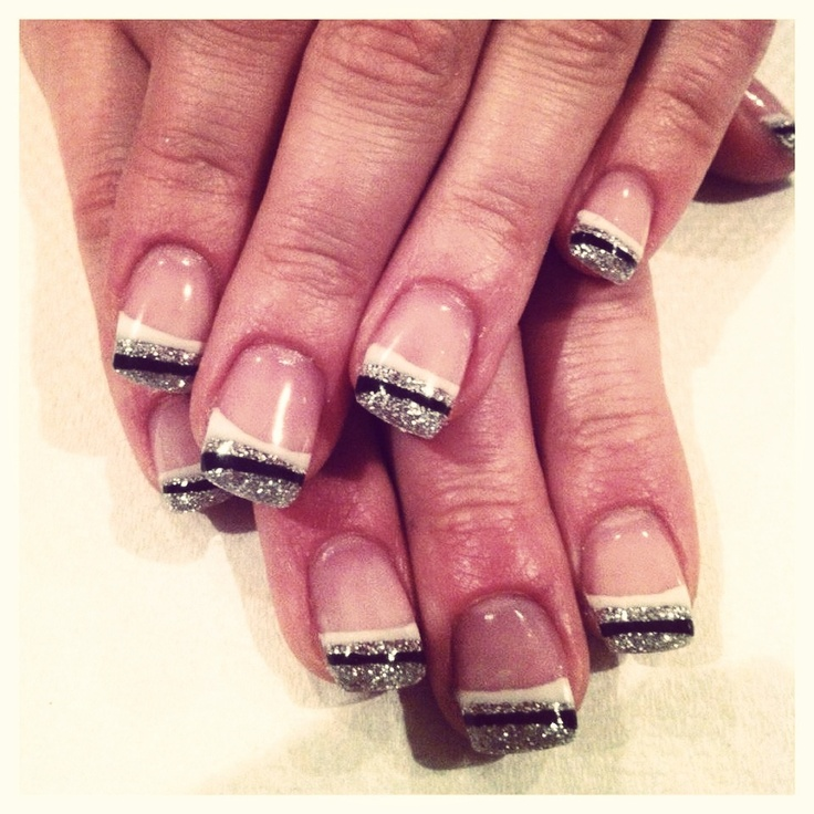 White And Silver For Prom Nail Ideas: 17 Best Images About Black, White, Silver Nails On