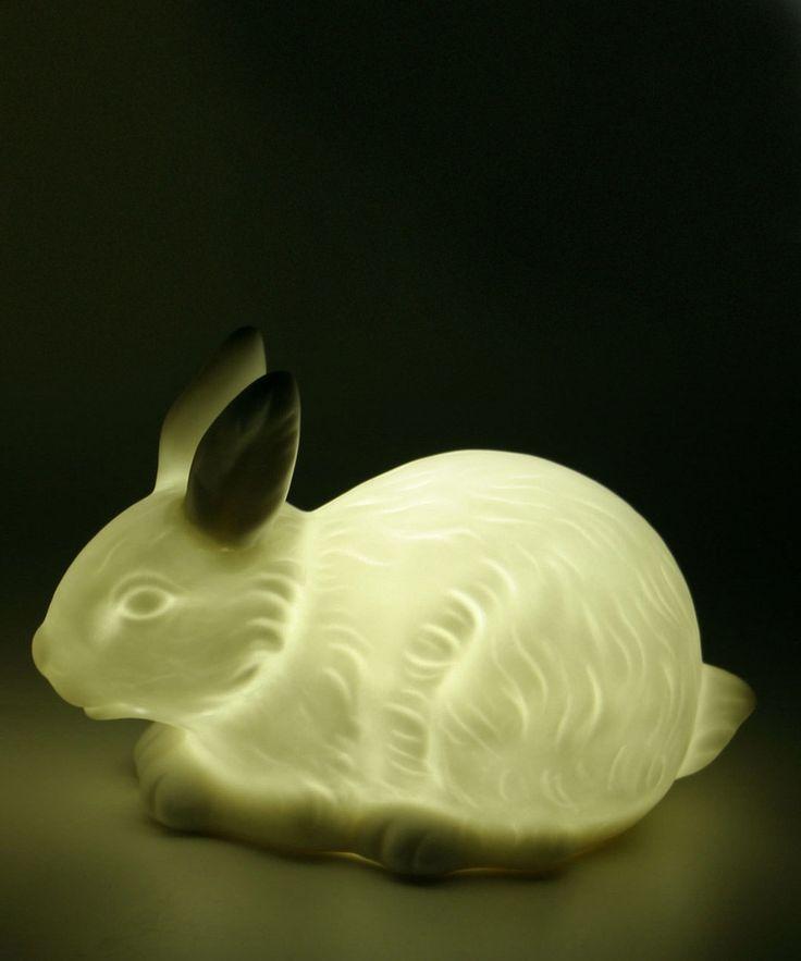 White Bunny Woodland Twilight Night-Light