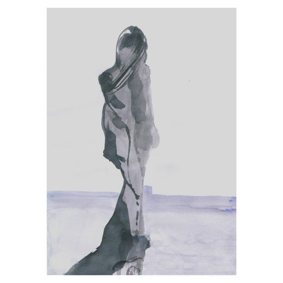 Elegant fashion woman print by Susanne Riber. This print is made from original watercolor painting and suits well for home decor as well as for professional settings.  Check it out and more in my Etsy shop.