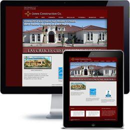 Jones construction Company website built with Wordpress using responsive web design.