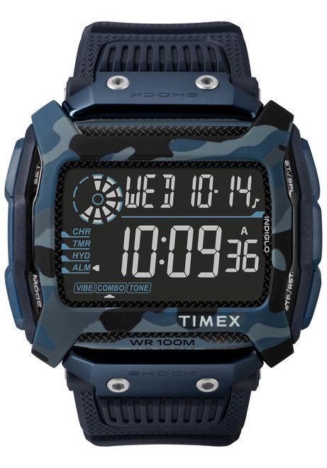 43791c5ad76 Timex Command Shock Digital Blue Camo