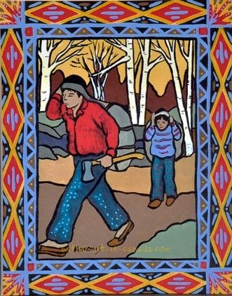 by Ojibwa Native Artist and Storyteller -Nokomis