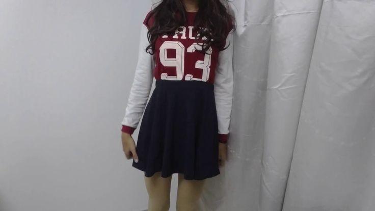 Crossdresser | Red sweater 1
