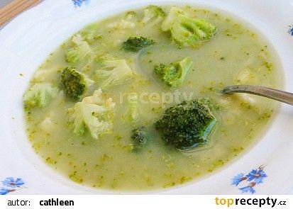 Máslová brokolicová polévka recept - TopRecepty.cz
