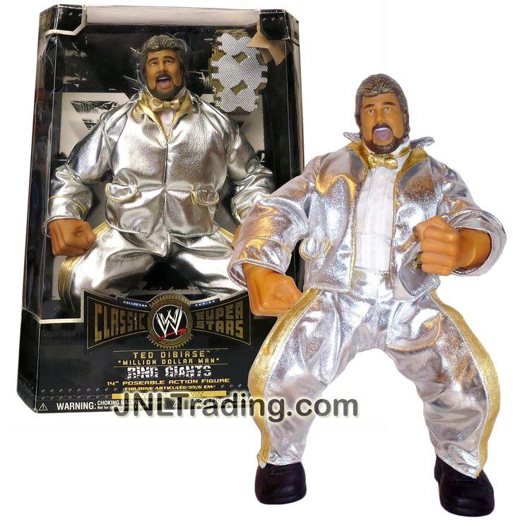 Jakks Pacific Year 2005 World Wrestling Entertainment WWE Classic Super Stars Series Ring Giants 14 Inch Tall Figure - TED DIBIASE MILLION DOLLAR MAN
