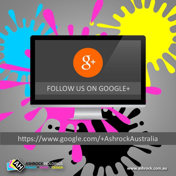 Follow us on #googleplus @ https://www.google.com/+AshrockAustralia