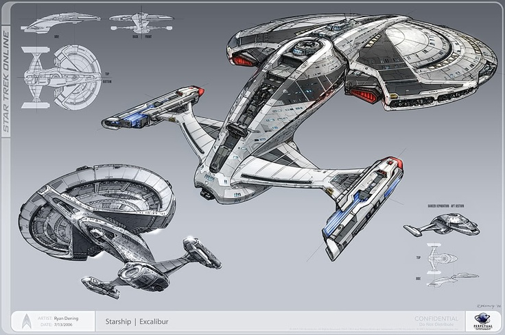 Weird, but the first thing I am pinning on my STO board is something that ISN'T in STO. This is a piece of concept art from Perpetual, the company that went bankrupt before they produced the game.