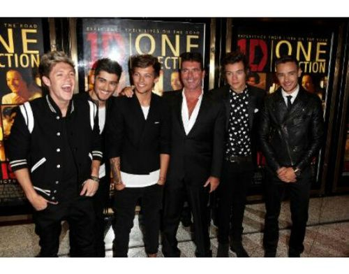 one direction and simon cowell image on We Heart It
