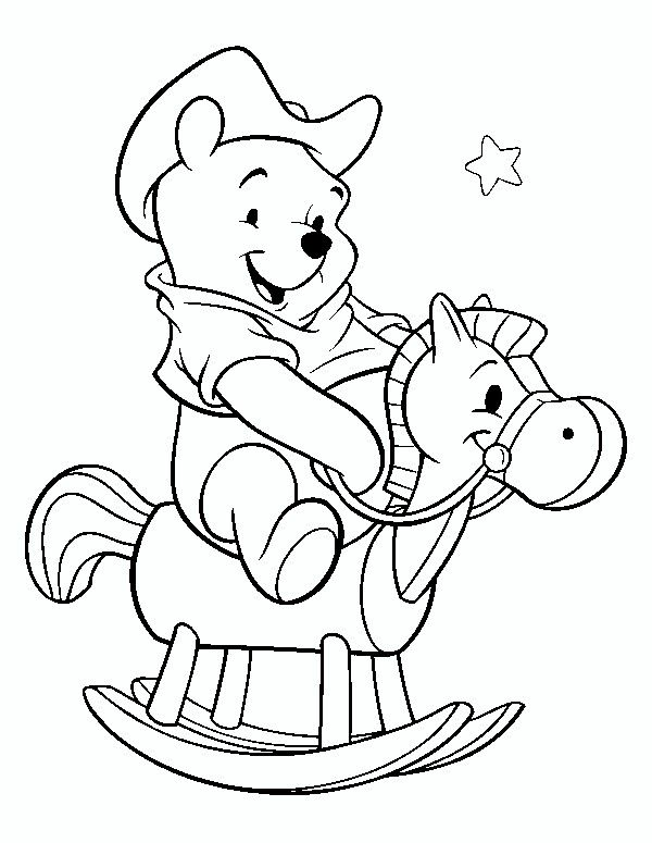 coloring pages of pooh bear - photo#49