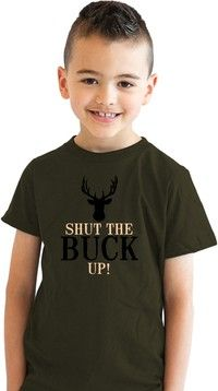 Wish   Youth The Hunt Is On Hilarious Deer Hunting Game Sport T shirt for Kids (Olive Green)