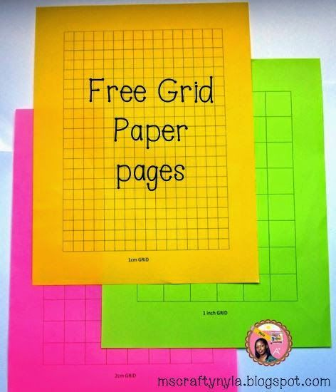 Free grid paper templates. I use grid paper like crazy in math!