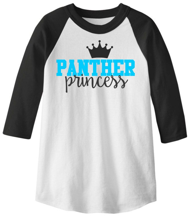 Youth Carolina Princess Tee // Carolina Panthers // Keep Pounding // Panther Nation by DivaDesignsByDesirae on Etsy