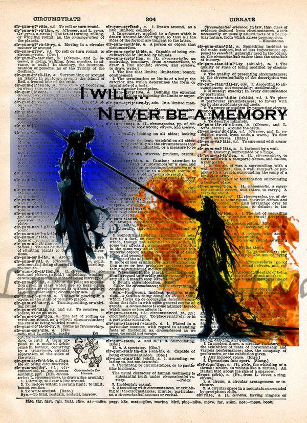 Final Fantasy VII Sephiroth and Cloud, Advent Children, Final Fantasy VII, Videogame art print