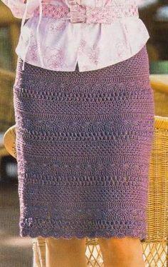 Прямая вязаная юбка крючком схема вязания.   Вязаные юбки.ру                                                                                                                                                     More