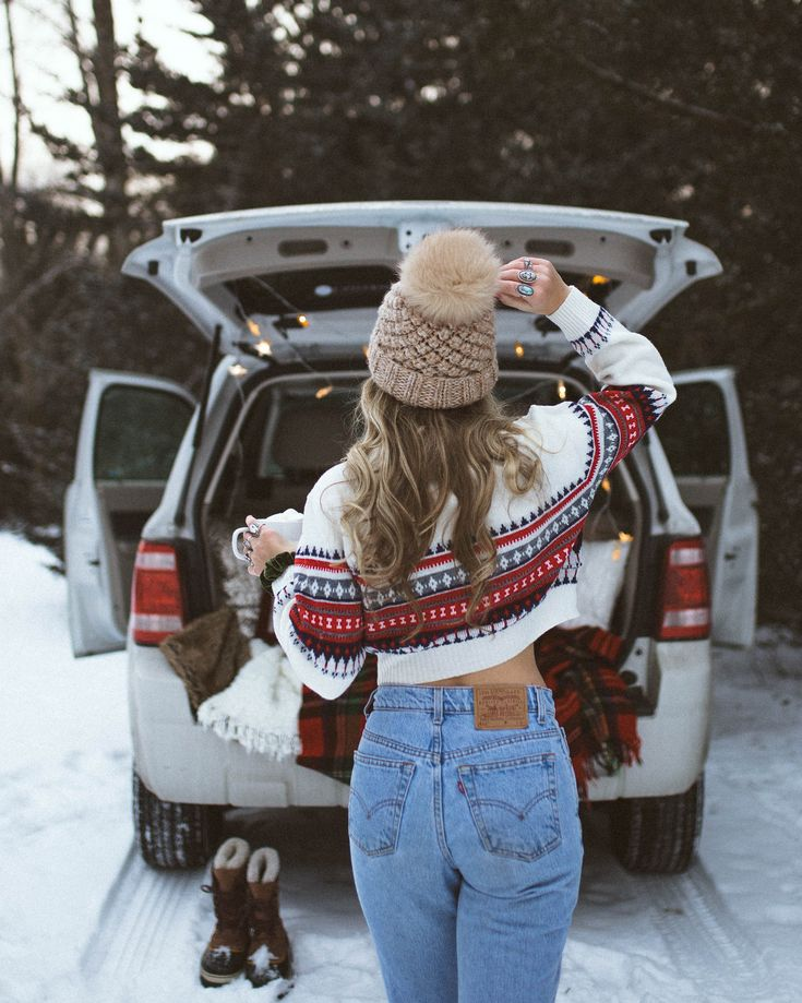 это имеет идеи для зимних фотографий на машине который