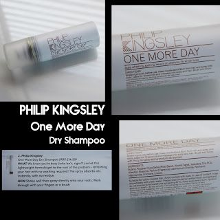 MichelaIsMyName: PHILIP KINGSLEY One More Day Dry Shampoo REVIEW