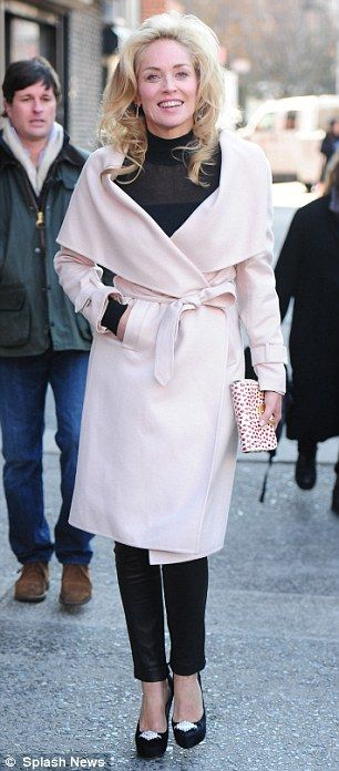 Sharon Stone + White Coat