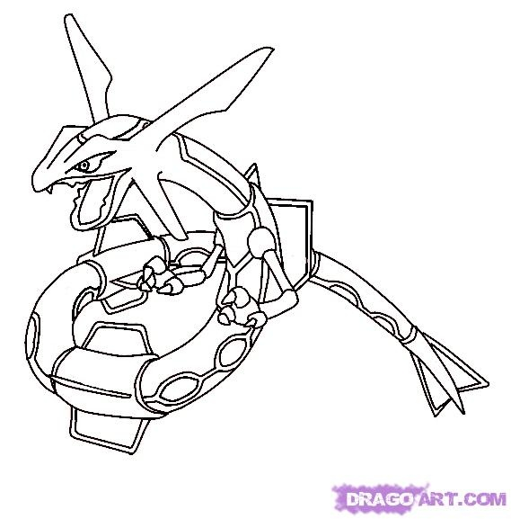 rayquaza coloring pages - rayquaza line art to color pinterest how to draw