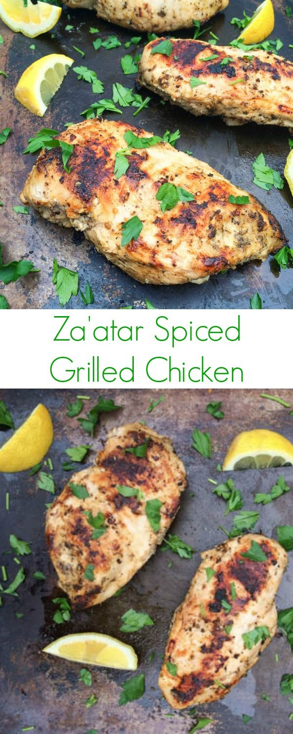 Zaatar Spiced Chicken - The Lemon Bowl--marinade in Zaatar, Olive oil and lemon 30 mins to overnight--these look delicious.