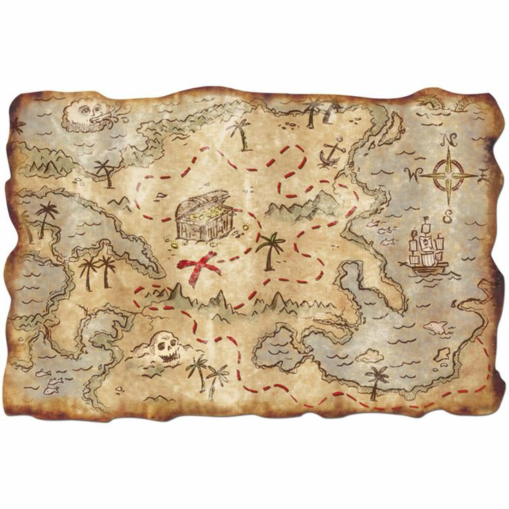 Mapa del Tesoro. Los Piratas del Caribe Precioso y práctico mapa donde localizar el tesoro. Para los más pequeños de la casa.